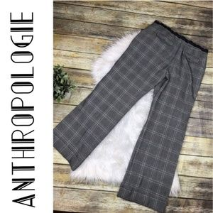 Anthropologie TapeMeasure Hounds-tooth Pants Sz 10
